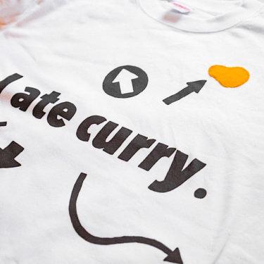 「カレー食べこぼしTシャツ」作りました!