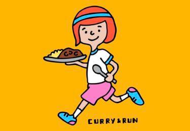 「カレーを食べて走ろうステッカー」作りました!