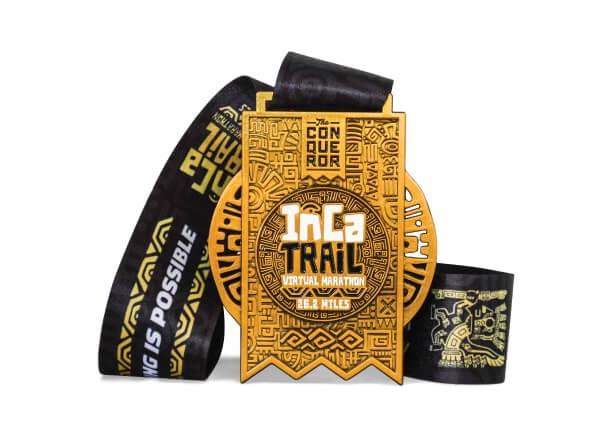 インカトレイルバーチャルマラソンのメダル