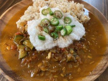【レシピ】さっぱり!夏野菜を使ったあごだしとろろスパイスカレー