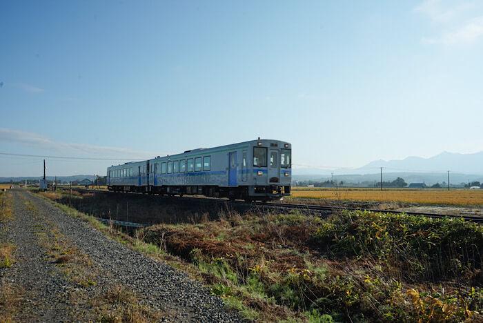JR富良野線を走る電車