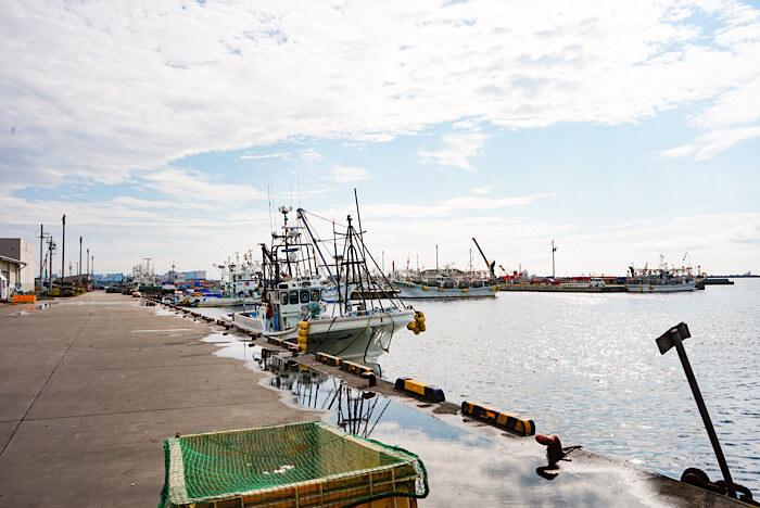 苫小牧の漁港