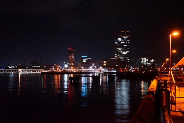 高松港の夜景