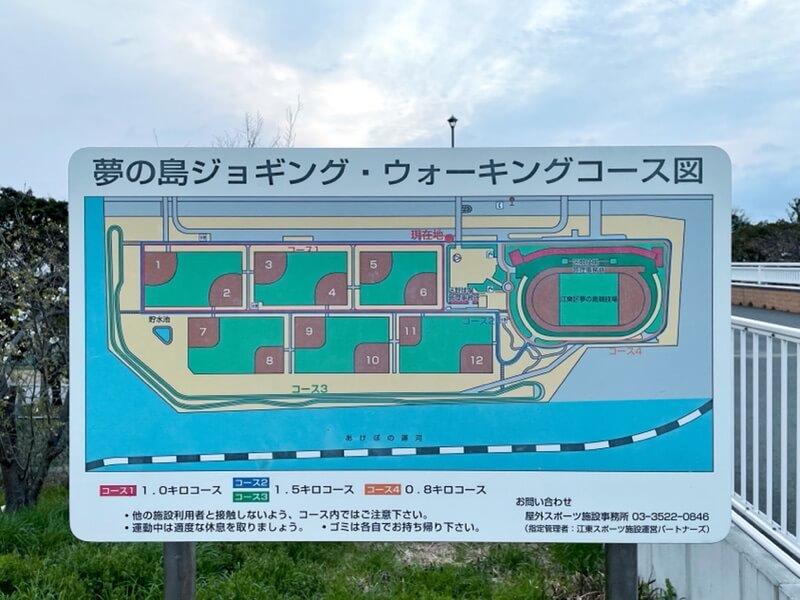 夢の島ジョギング・ウォーキングコースマップ